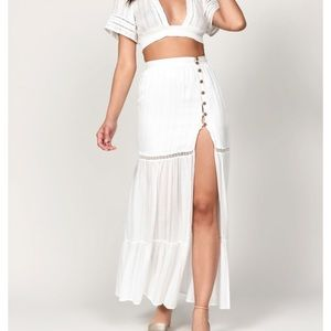 Dresses & Skirts - WHITE SIDE SLIT MAXI SKIRT